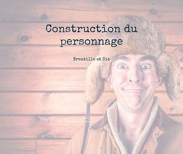 stage sur un week-end construction personnage chez Broutille et compagnie