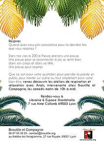 Atelier Relaxation et Respiration, Lyon 1, Broutille et Compagnie, Anaïs Stallettino, forfaits