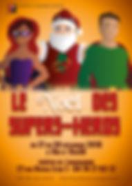 Noel des super-héros, spectacl, noel, enfants, cours, théatre, lyon, essai, gratuit