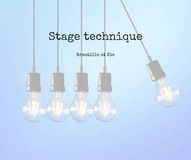 visuel du stage tecnique proposé par Broutille et Cie