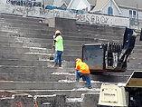 Hinchliffe Stadium restoration grandstand stairs July 2021.jpg