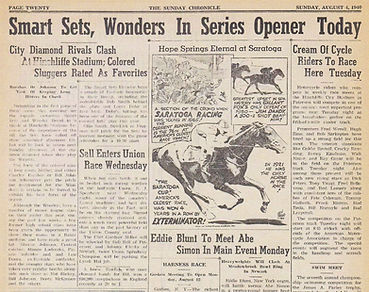 Hinchliffe Sunday Chronicle Baseball Aug