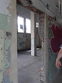 Hinchliffe Stadium restoration concourse doorway July 2021.jpg