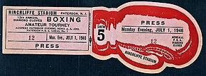 Hinchliffe Stadium Boxing ticket 1946.jp