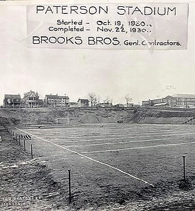 Hinchliffe Stadium football field before