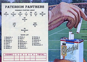 Hinchliffe Paterson Panthers roster with
