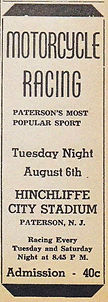 Hinchliffe Sunday Chronicle Ad Motorcycl