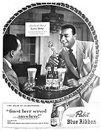 Hinchliffe Larry Doby Pabst Blue Ribon A