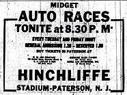 Hinchliffe Midget autoracing ad    Pater