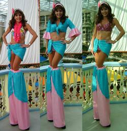 Female tropical stilt walker