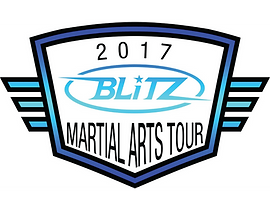 2017 Blitz Martial Arts Tour Logo