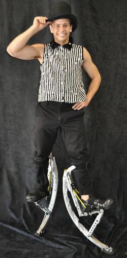 Black pinstripe costume