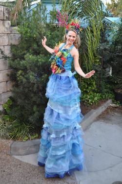 Coral Queen stilt walker