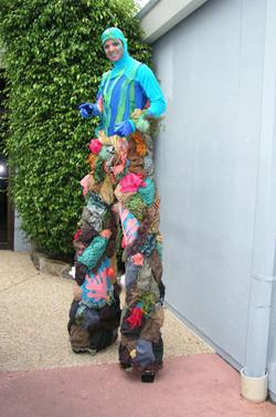 Coral King stilt walker