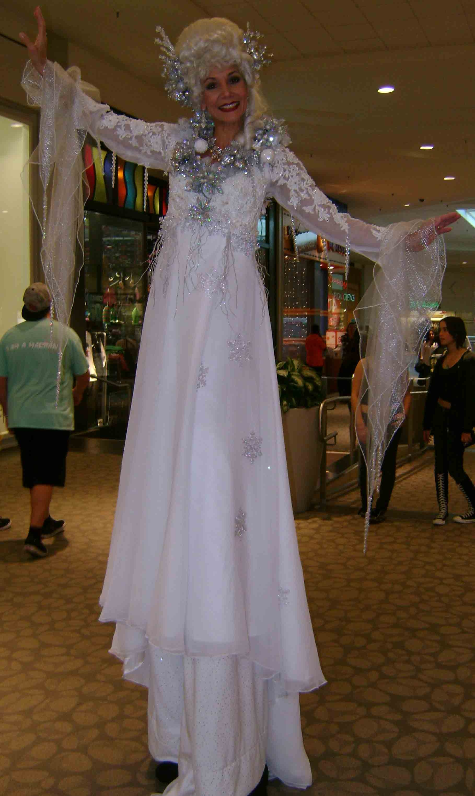 Snow Queen stilt walker