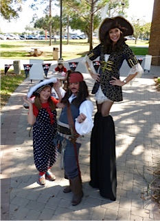 Pirate stilt walker