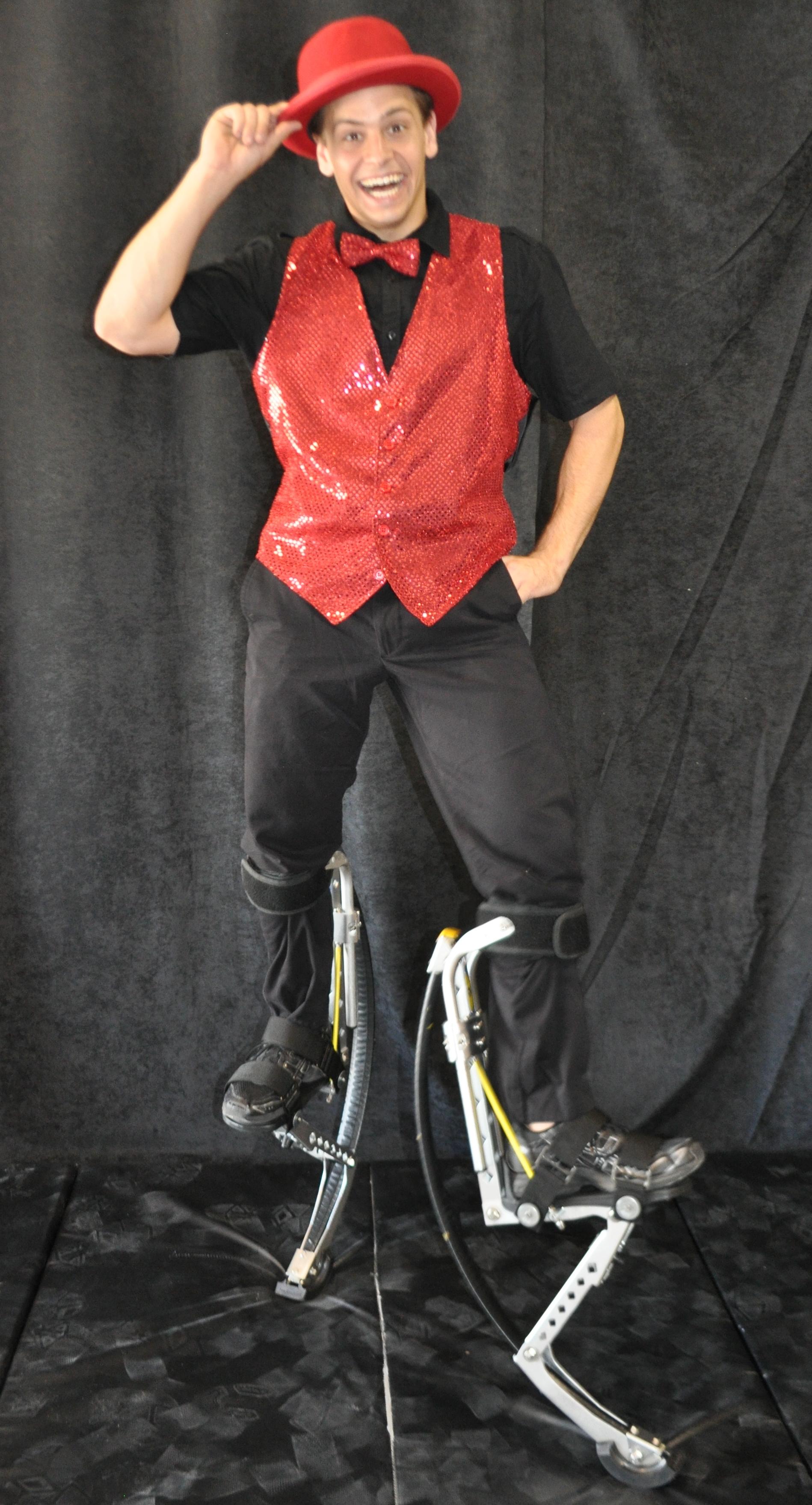 Red ringmaster costume