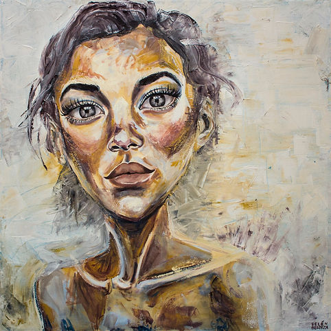 Portrait, oilpainting