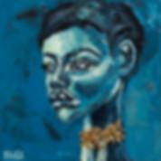 African Portrait Mix Media
