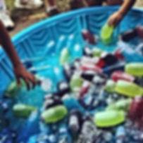 Brunch autour de la piscine
