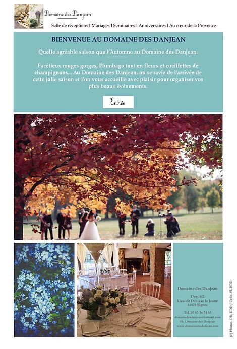 Mariage champêtre en automne au Domaine