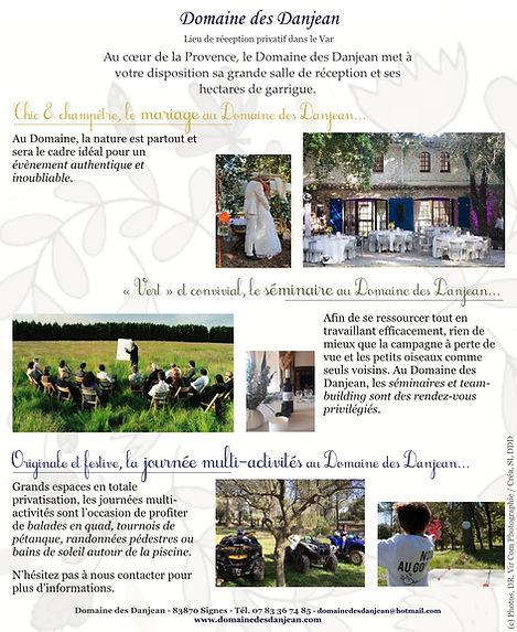 Mariage champêtre, sémaires, team-building, repas entreprise, domaine mariage, Var