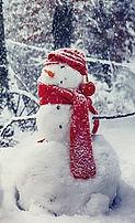 Bonhomme de neige au Domaine des Danjean