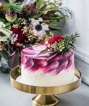 Délicieux wedding cake pour un mariage champêtre en hiver au Domaine des Danjean.