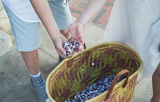 Paniers de confettis pour les petits et les grands