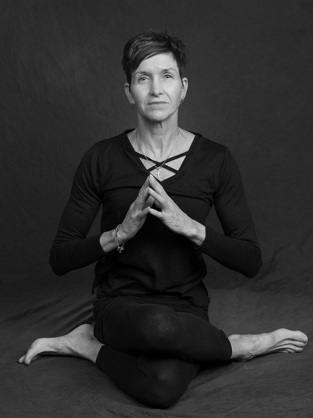 Golden, Colorado Portrait Photographer - yoga instructor in black and white