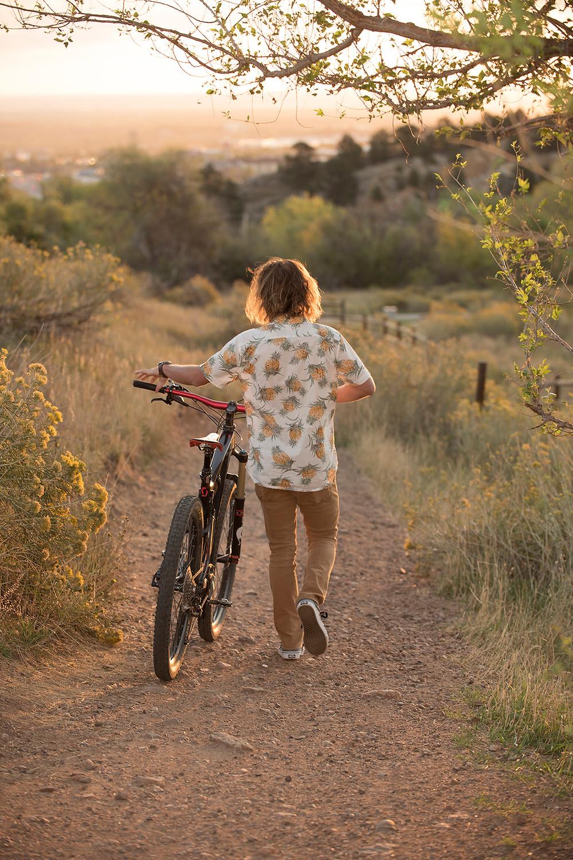 Golden, Colorado Senior Portrait photographer - Mountain Biker Photoshoot