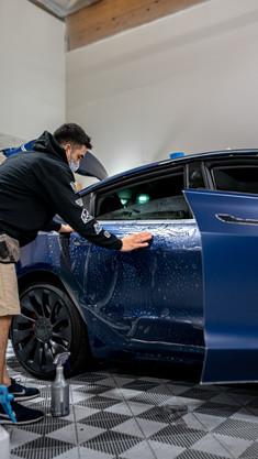 Matte PPF Blue Tesla