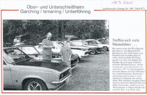 Internationales Treffen 2006 Süddeutsche Zeitung 17.06.2006