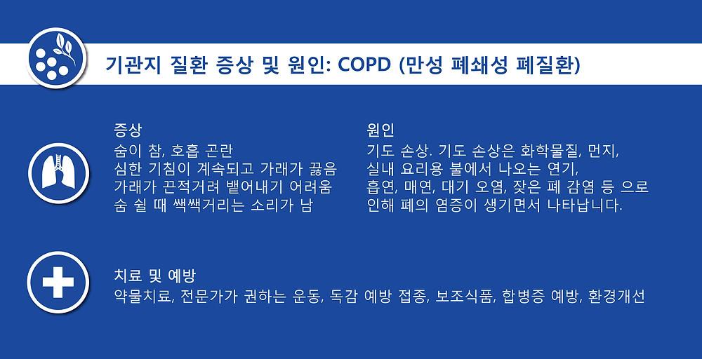 기관지 질환 증상 및 원인 COPD