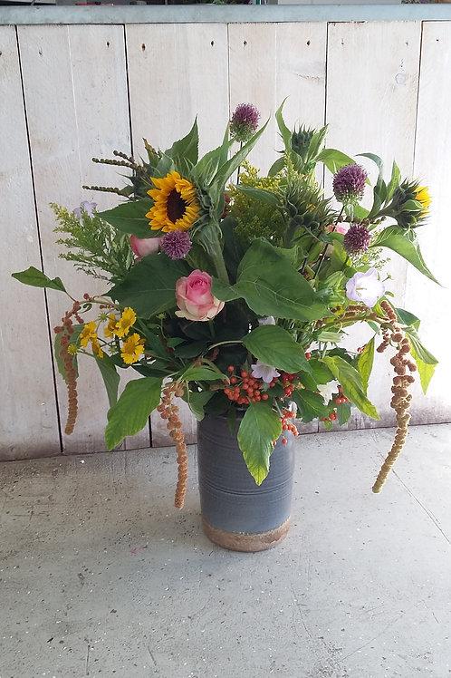 Herfst arrangement met vaas