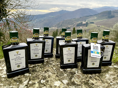 🌎🌍 2020 ELLEIVÆ Biologico EVOO. 8 (eight) bottles. IGP Toscano.