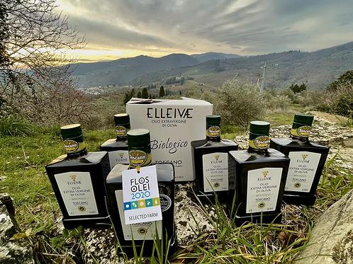 🇬🇧🇺🇦 2020 ELLEIVÆ Biologico EVOO. 6 (six) bottles (0.5l). IGP Toscano