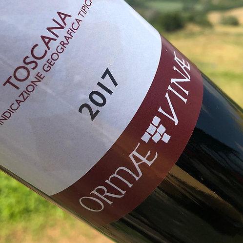 USA CUSTOM LABEL WINE. 2017 Rosso IGT Toscano. 1 carton of 6 bottle. 0.75L x 6