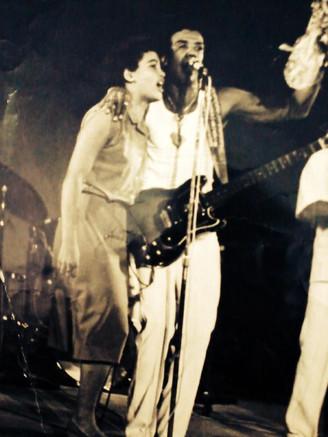 Mit Jorge Ben in Mexiko 1985