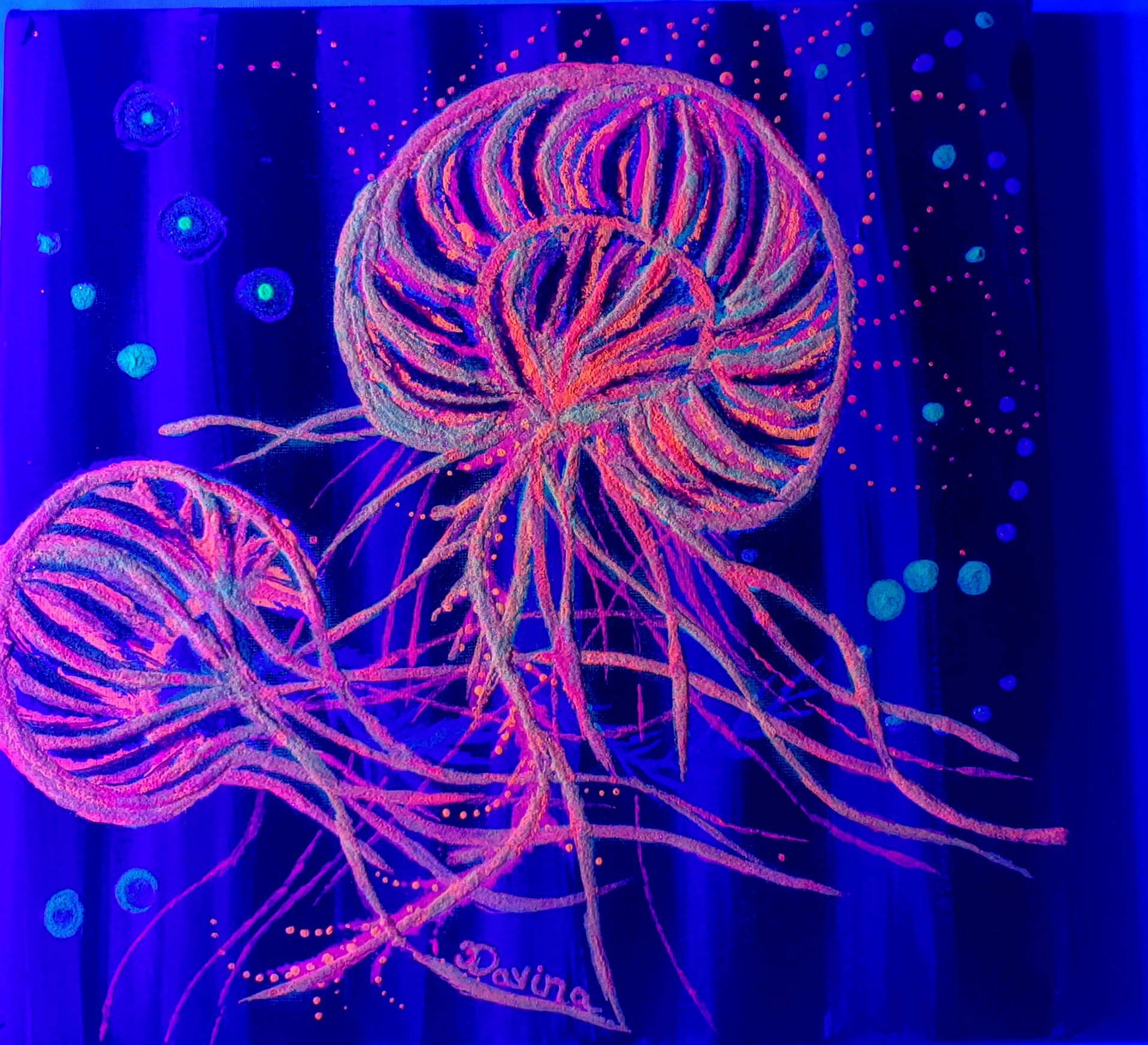 Glow in the Dark JellyFish Blacklight