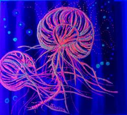 Glow in the Dark JellyFish Blacklight