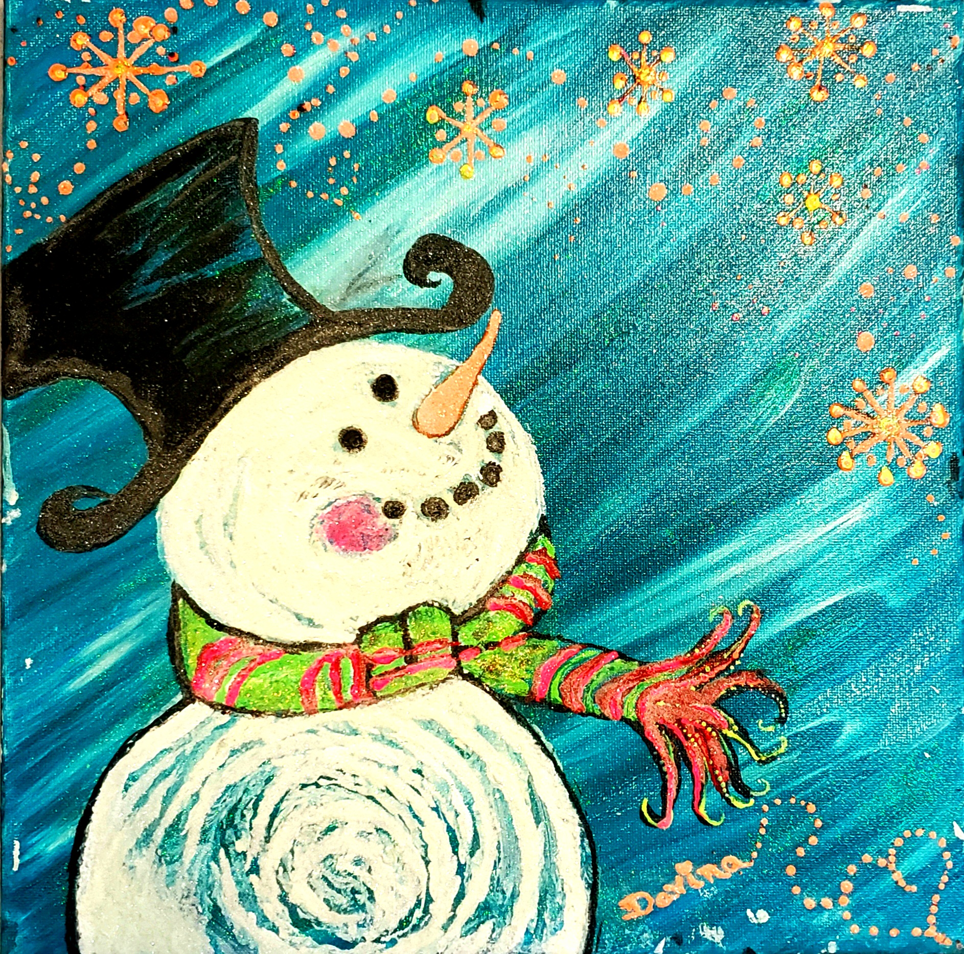 Glow in the Dark Snowflake Snowman Day