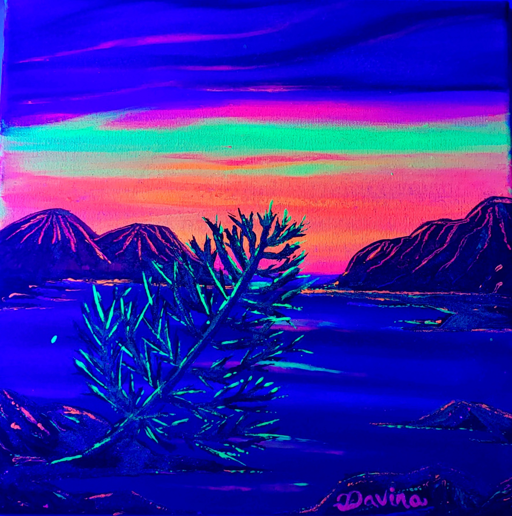 Glow in the Dark Lake Tahoe Blacklight