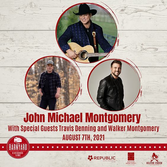 John Michael Montgomery with Travis Denning and Walker Montgomery