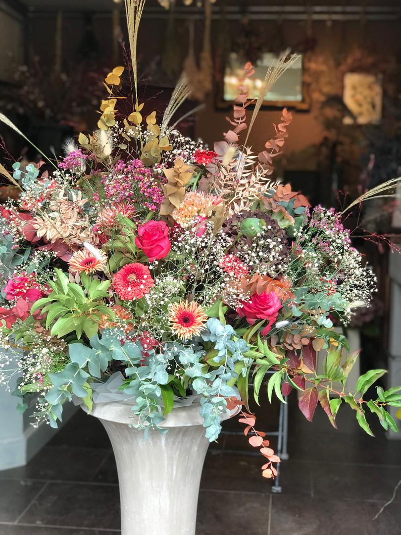 Arrangement floral évènement professionnel Lausanne