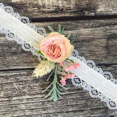 Bracelet mariage fleurs séchées