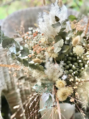 Bouquet fleurs séchées clair