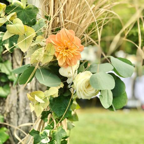 Décoration florale mariage champêtre