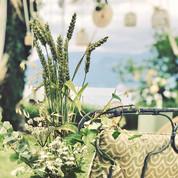 Décoration pour Cérémonie laïque de mariage bohème champêtre