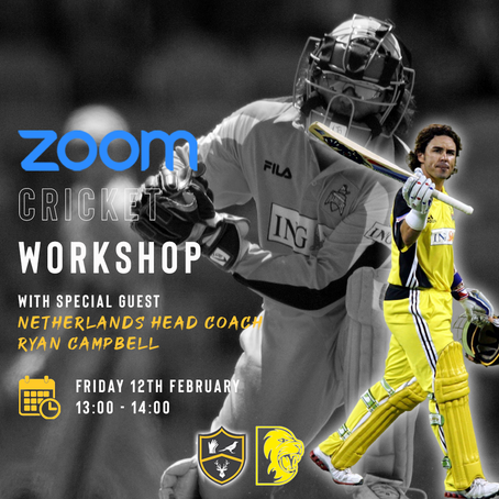 Cricket Workshop With Ryan Campbell